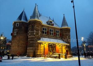 Nieuwmarkt in the snow