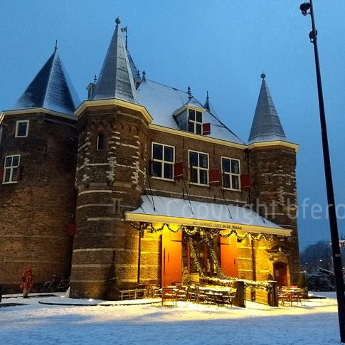 Nieuwmarkt in the snow